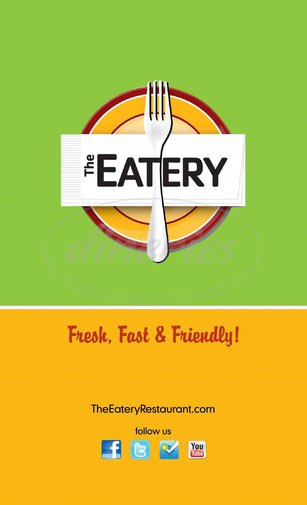 menu for The Eatery