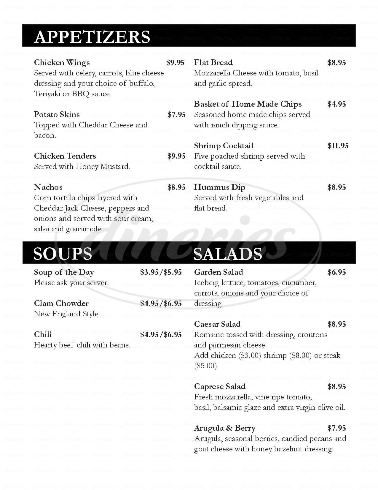 menu for The Sunset Room