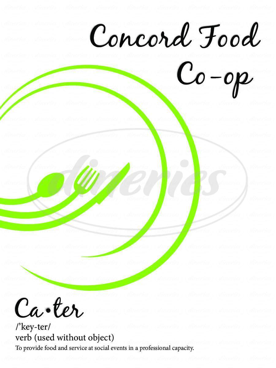 menu for Celery Stick Cafe