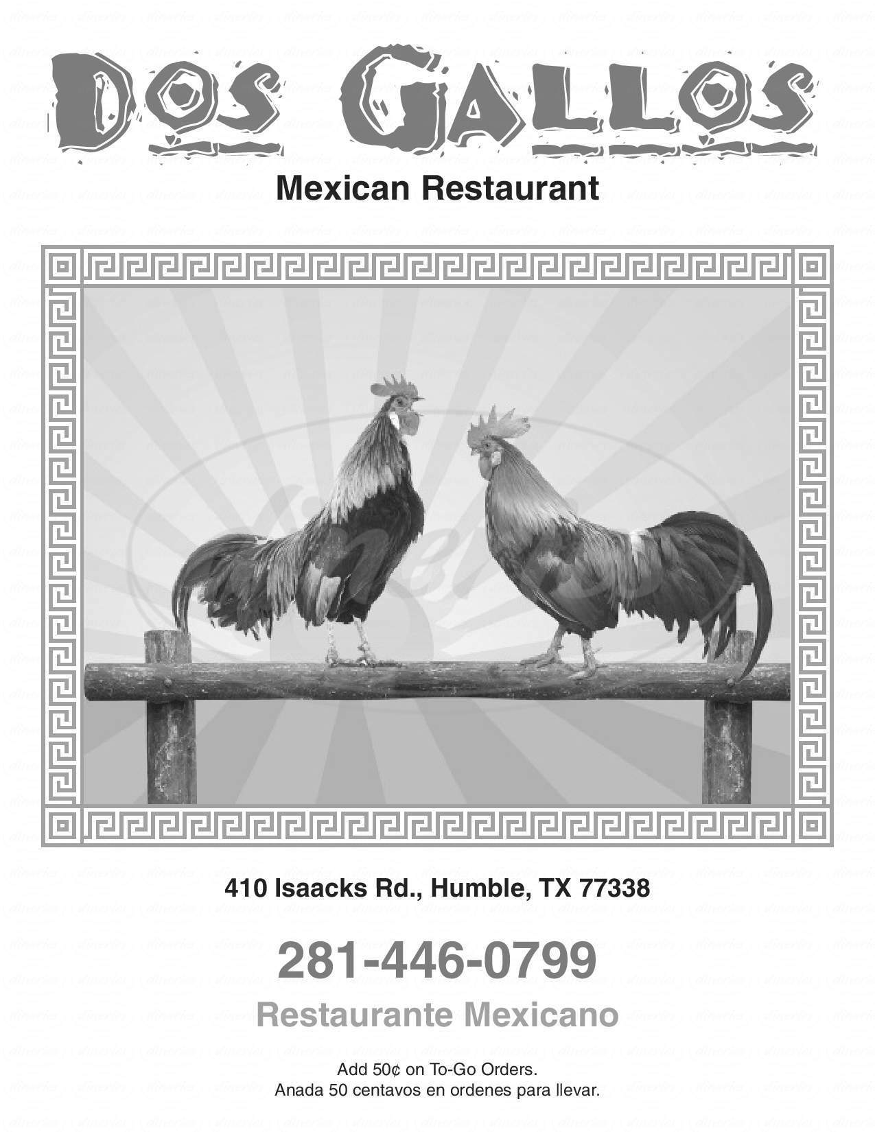 menu for Dos Gallos