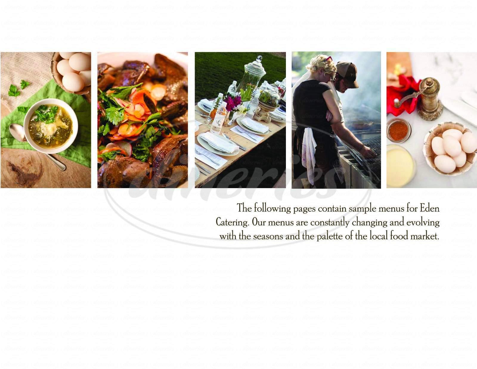 menu for Eden East