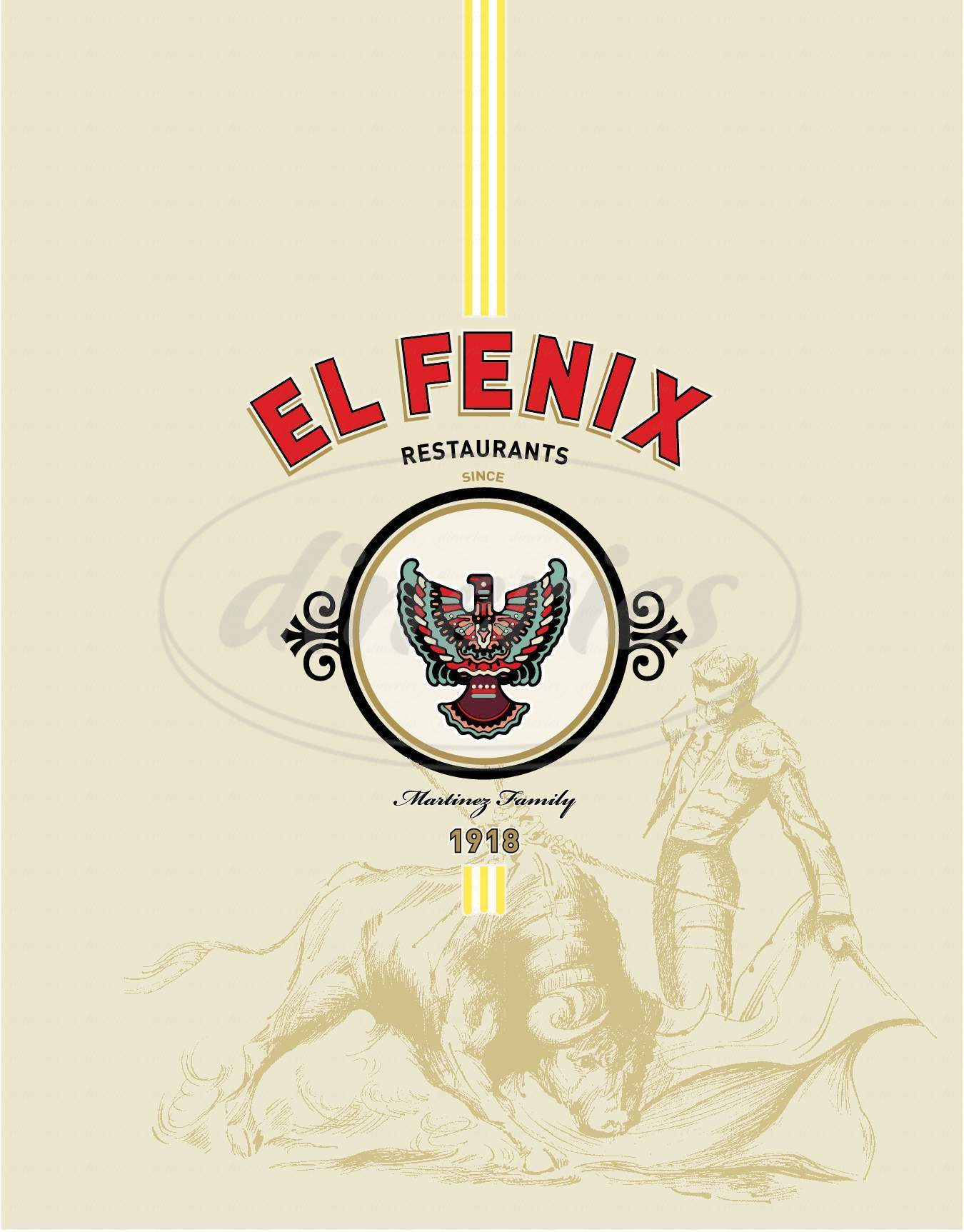 menu for El Fenix