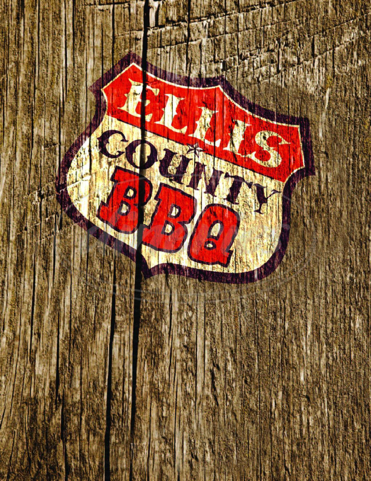 menu for Ellis County BBQ