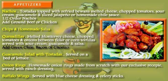 menu for Elmer's Family Restaurant