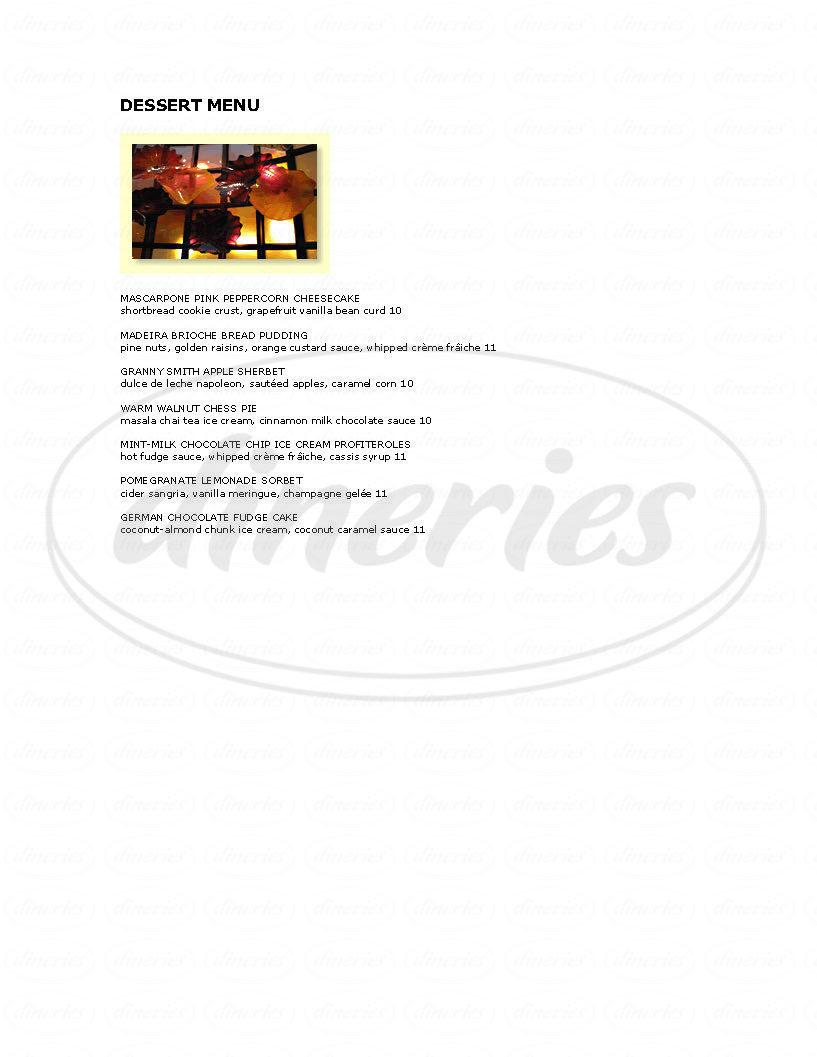 menu for Postrio