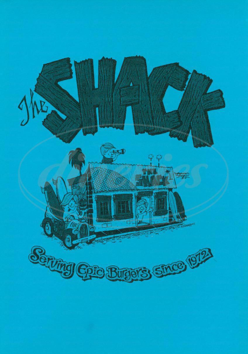 menu for The Shack