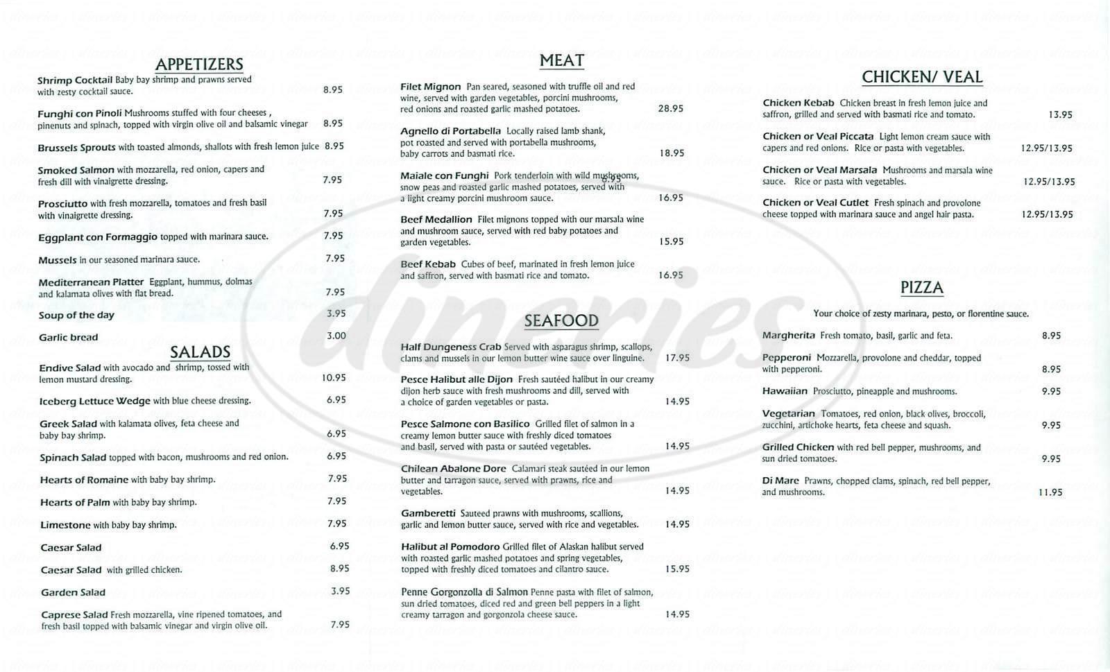 menu for Per Tutti Ristorante