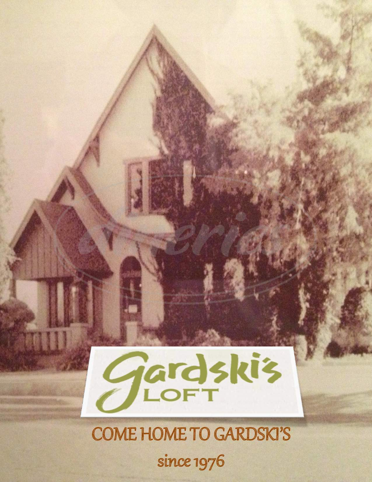 menu for Gardski's Loft