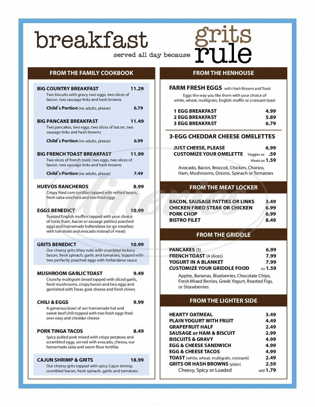 Ellen\'s Southern Kitchen Menu - Dallas - Dineries