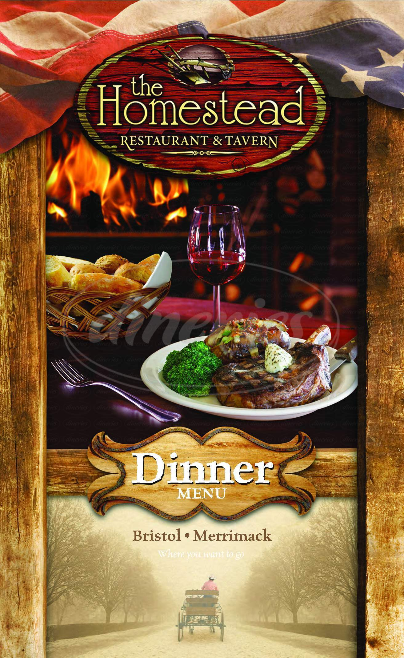 menu for The Homestead Restaurant & Tavern