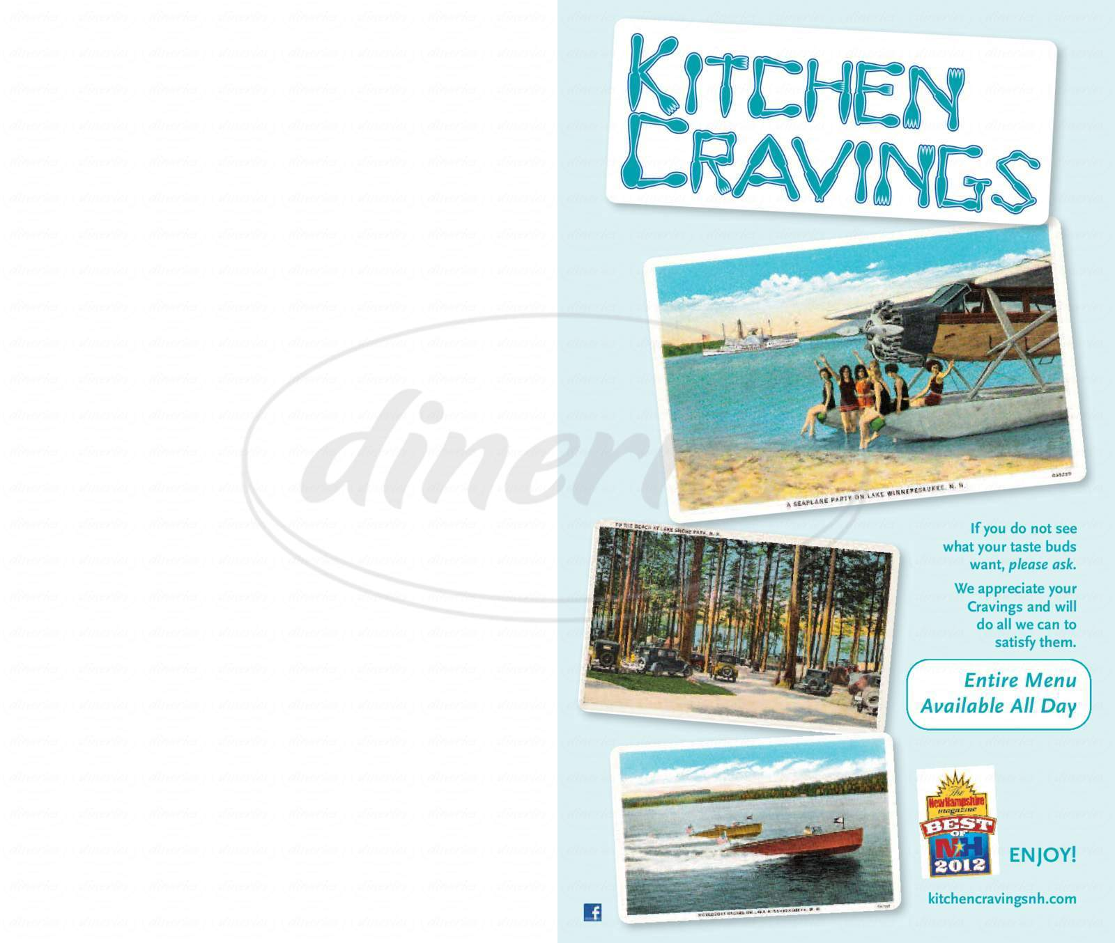 menu for Kitchen Cravings - Gilford