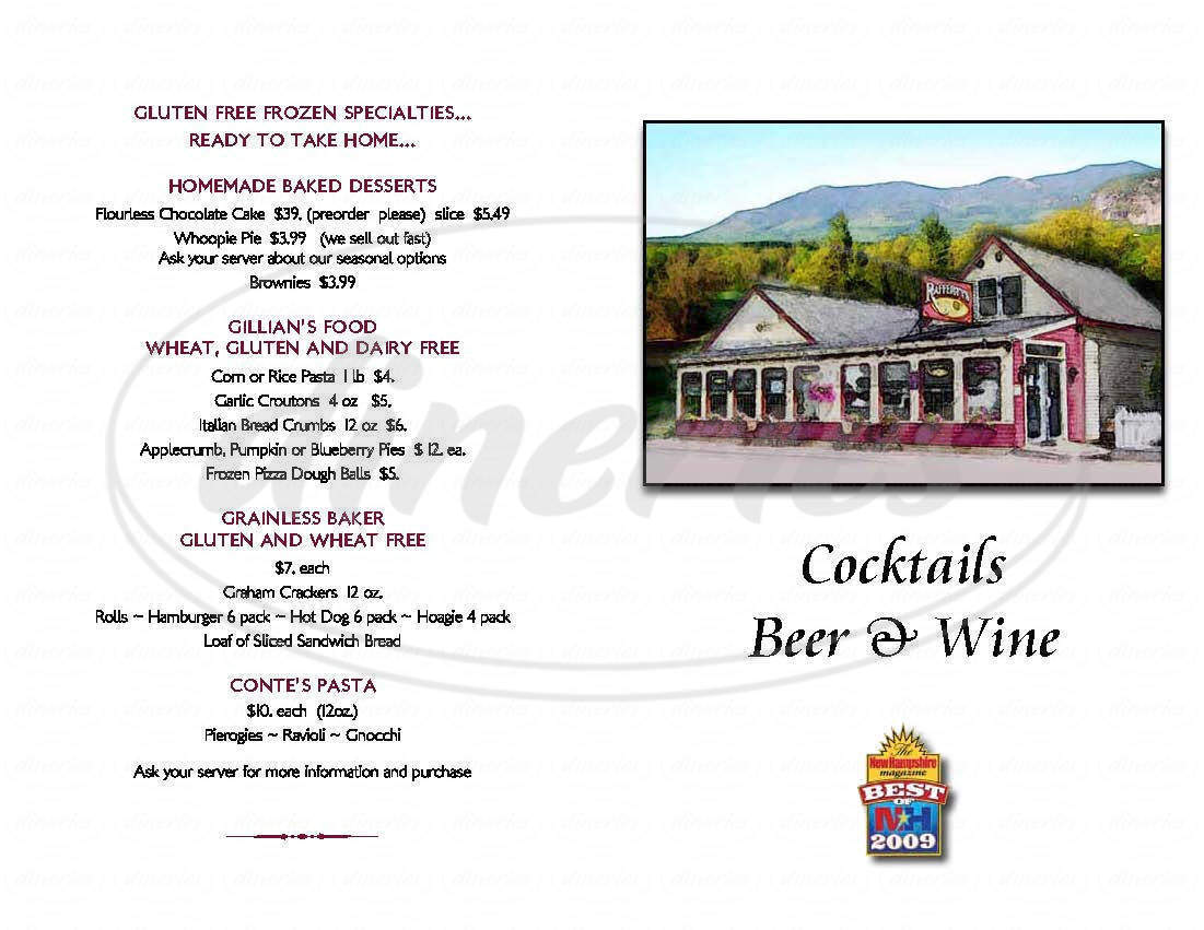 menu for Rafferty's Restaurant & Pub