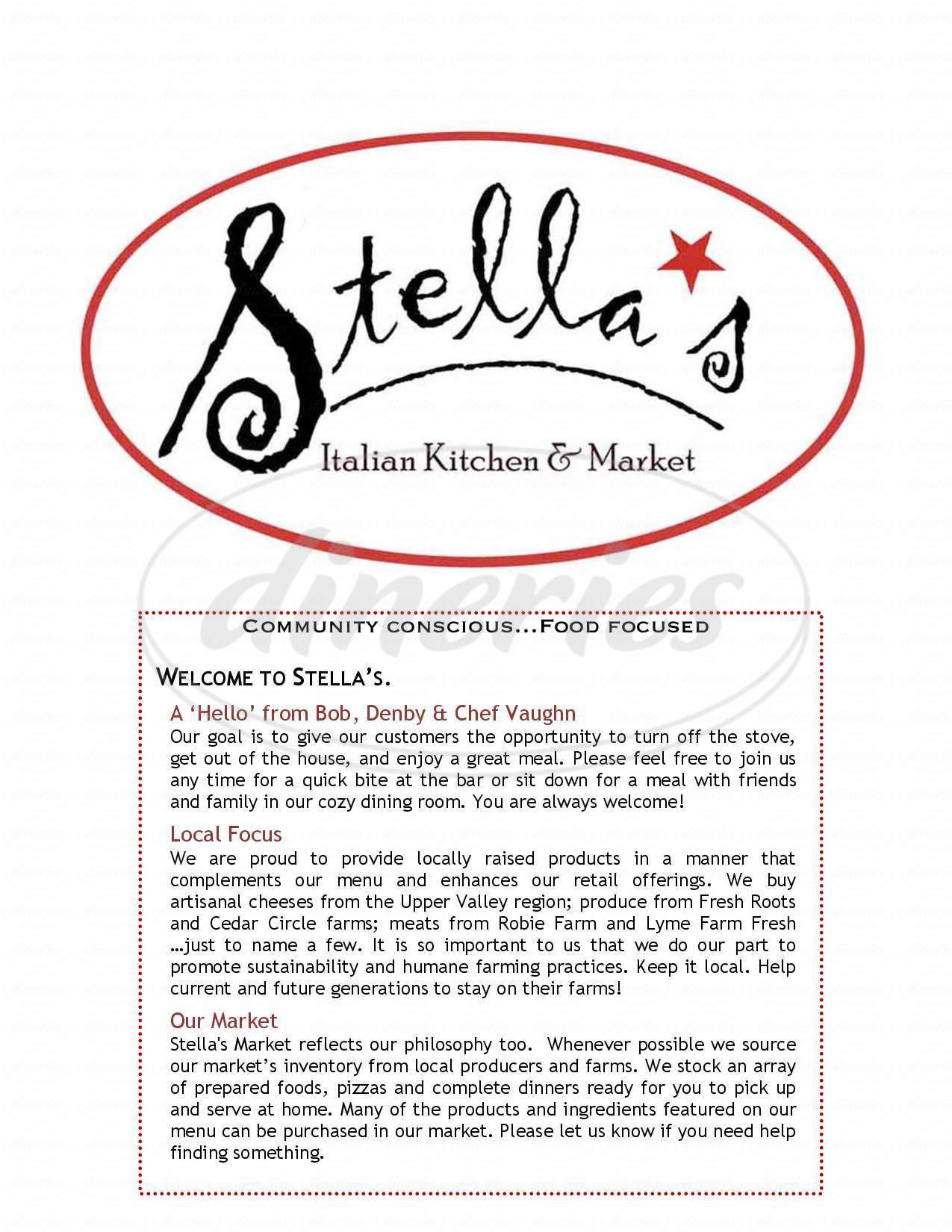 menu for Stella's Kitchen