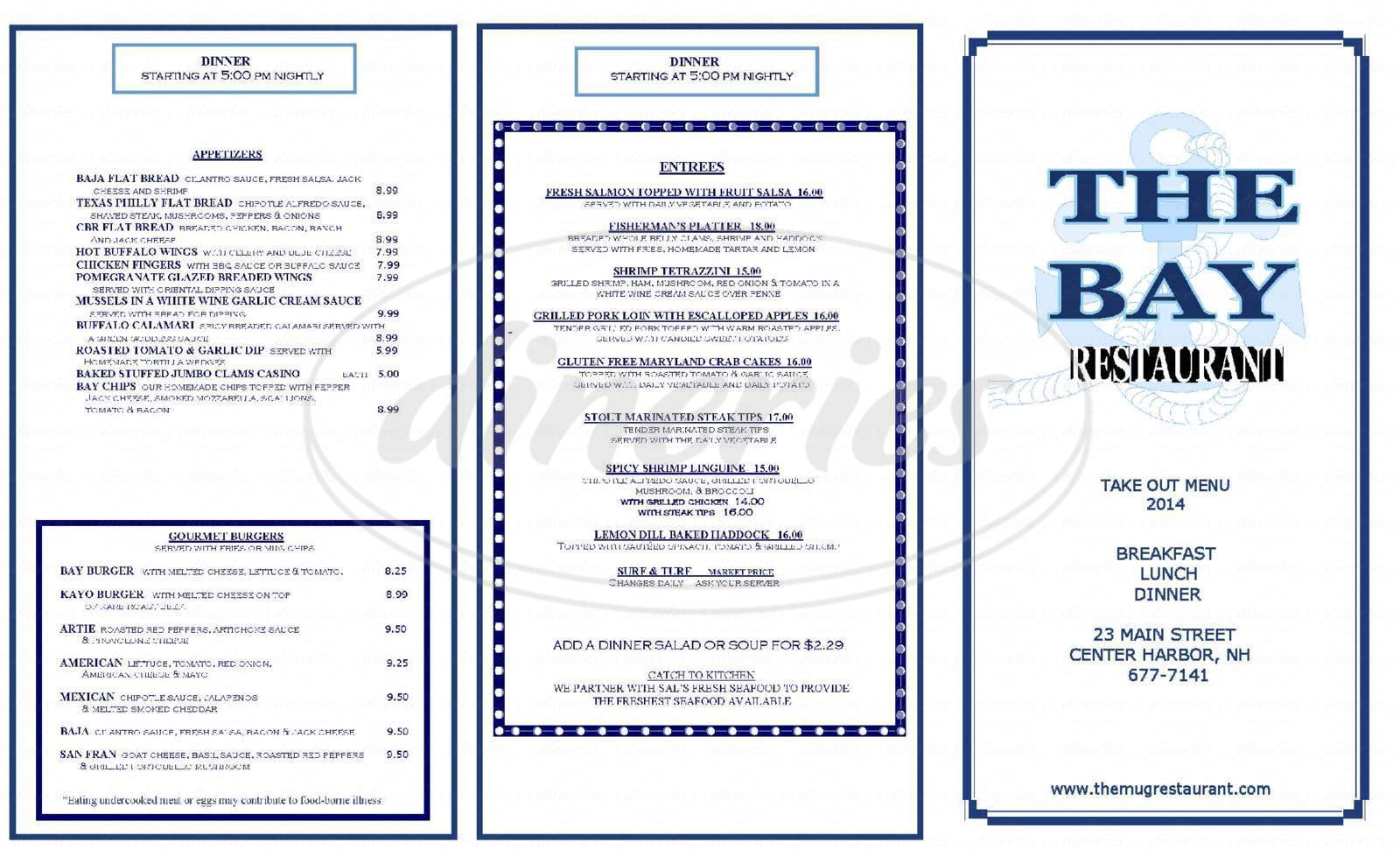 menu for Mug By The Bay