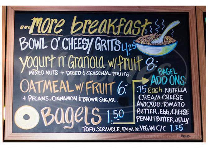 menu for Roots Café