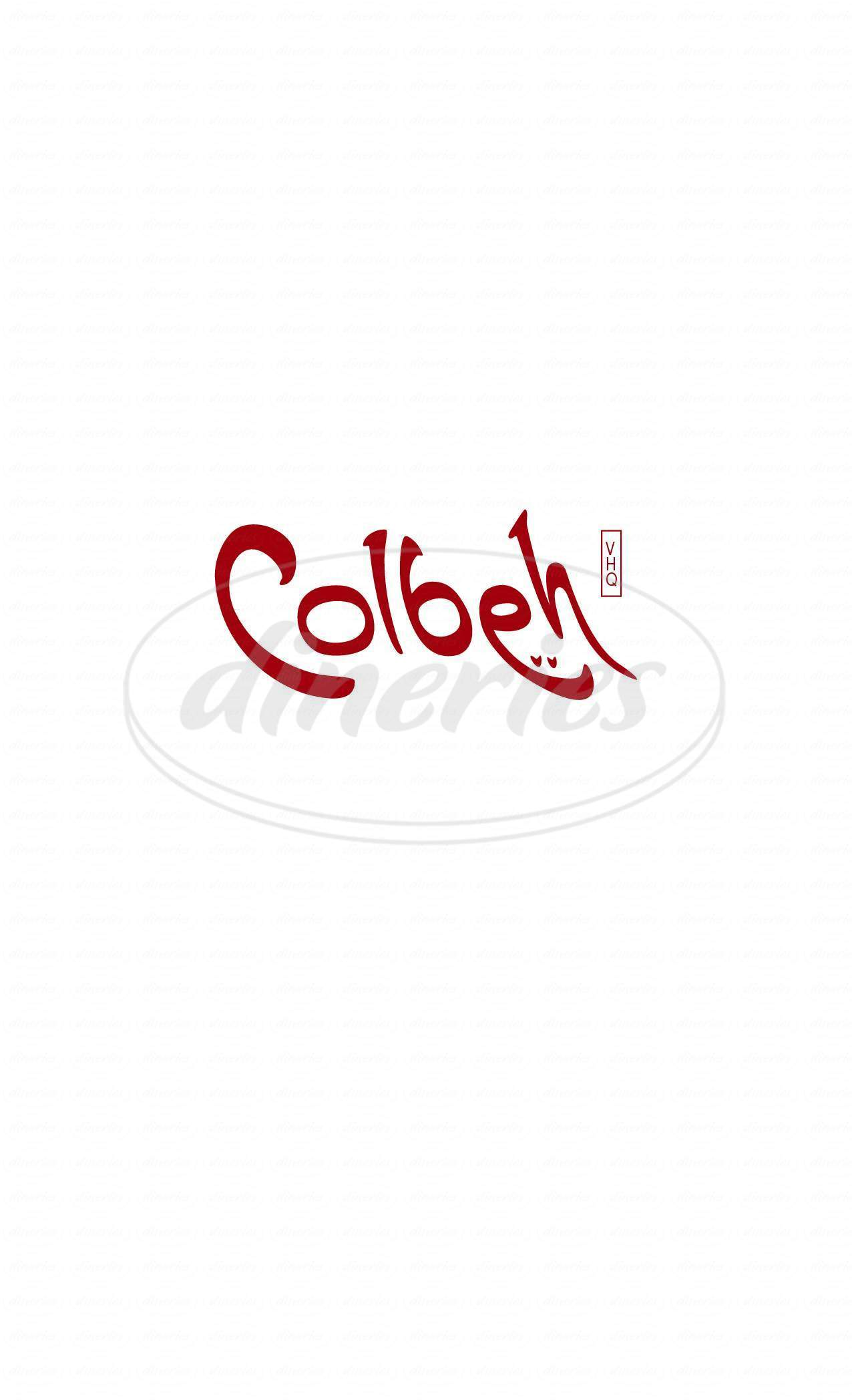 menu for Colbeh