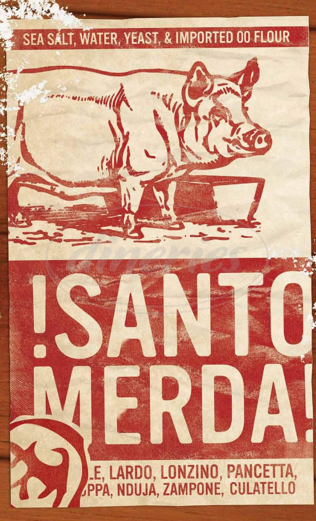 menu for Cane Rosso