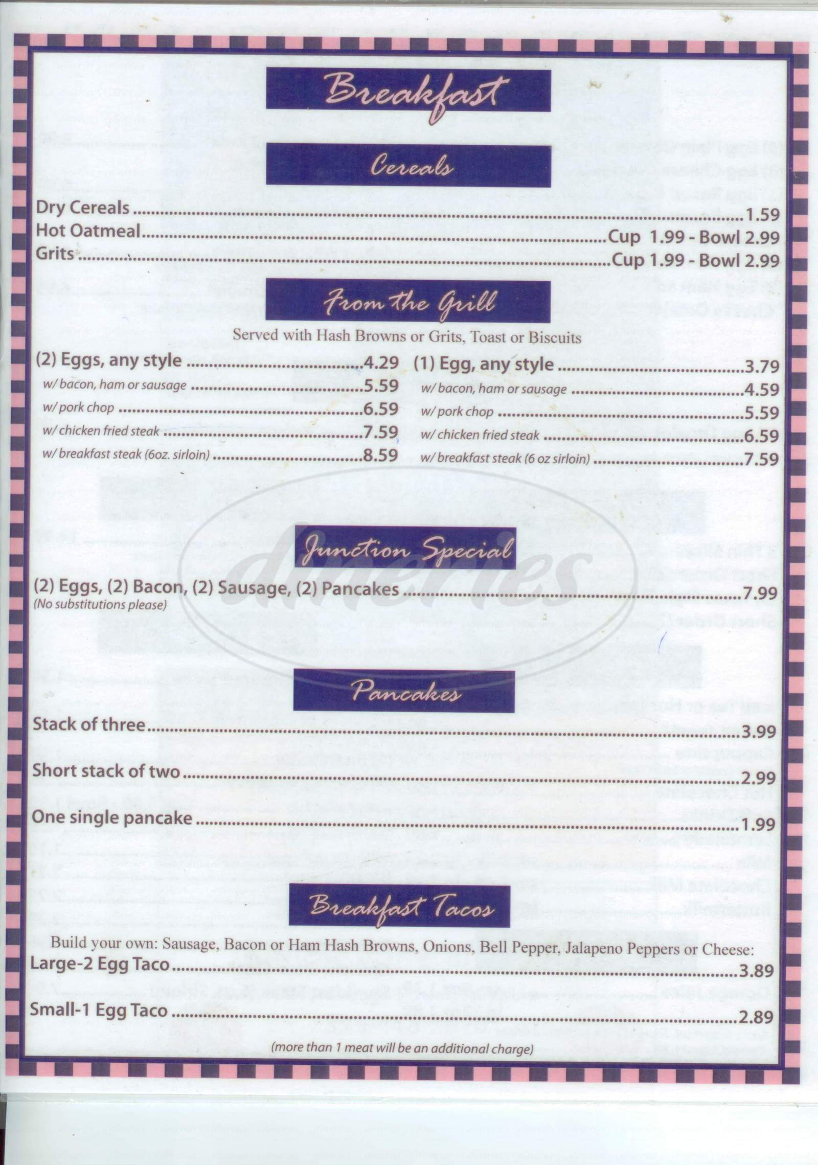 menu for Isaack's Restaurant
