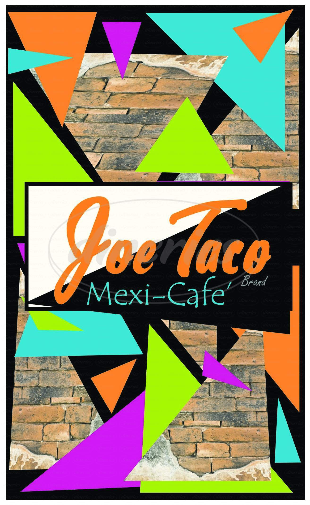 menu for Joe Taco
