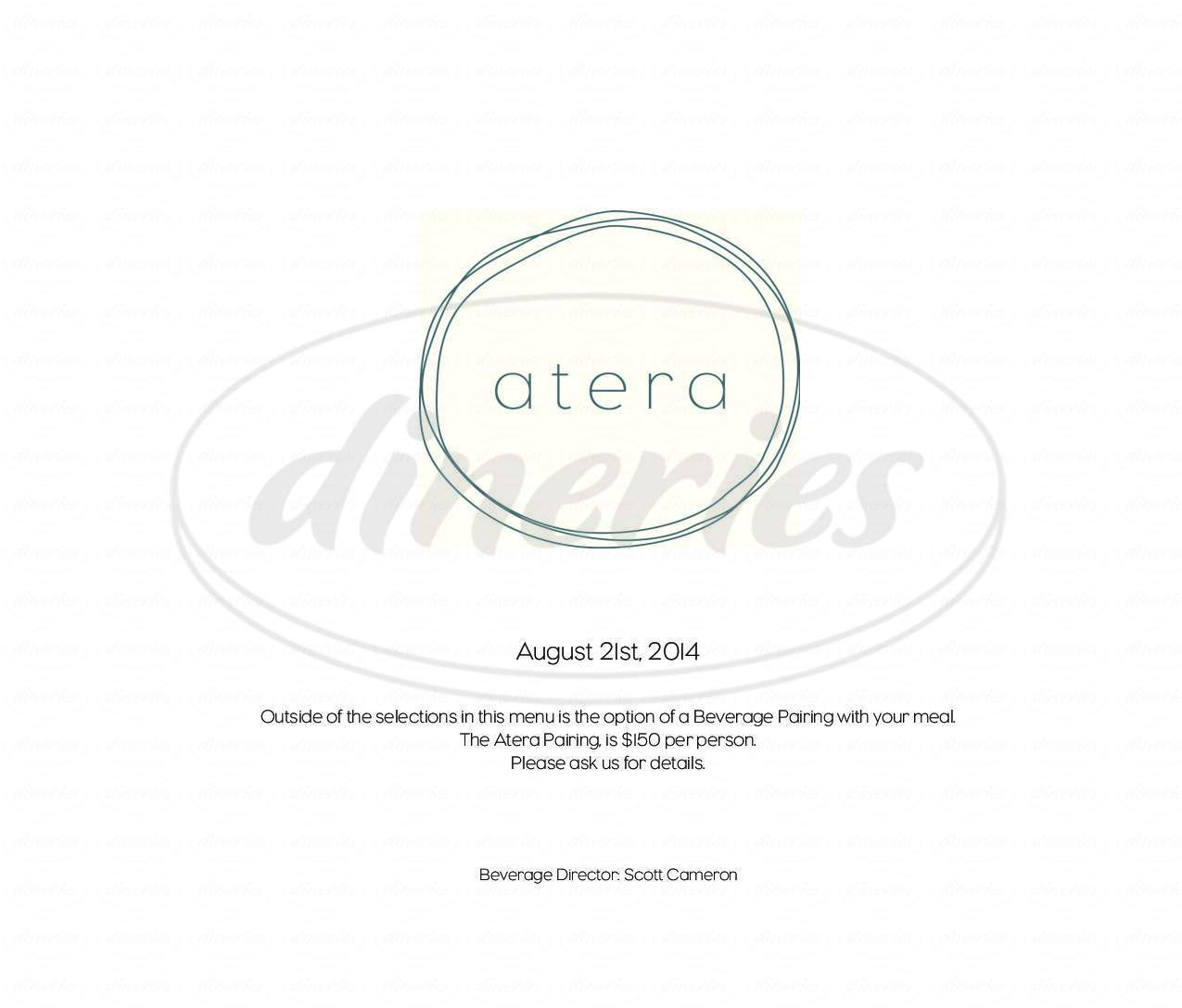 menu for Atera