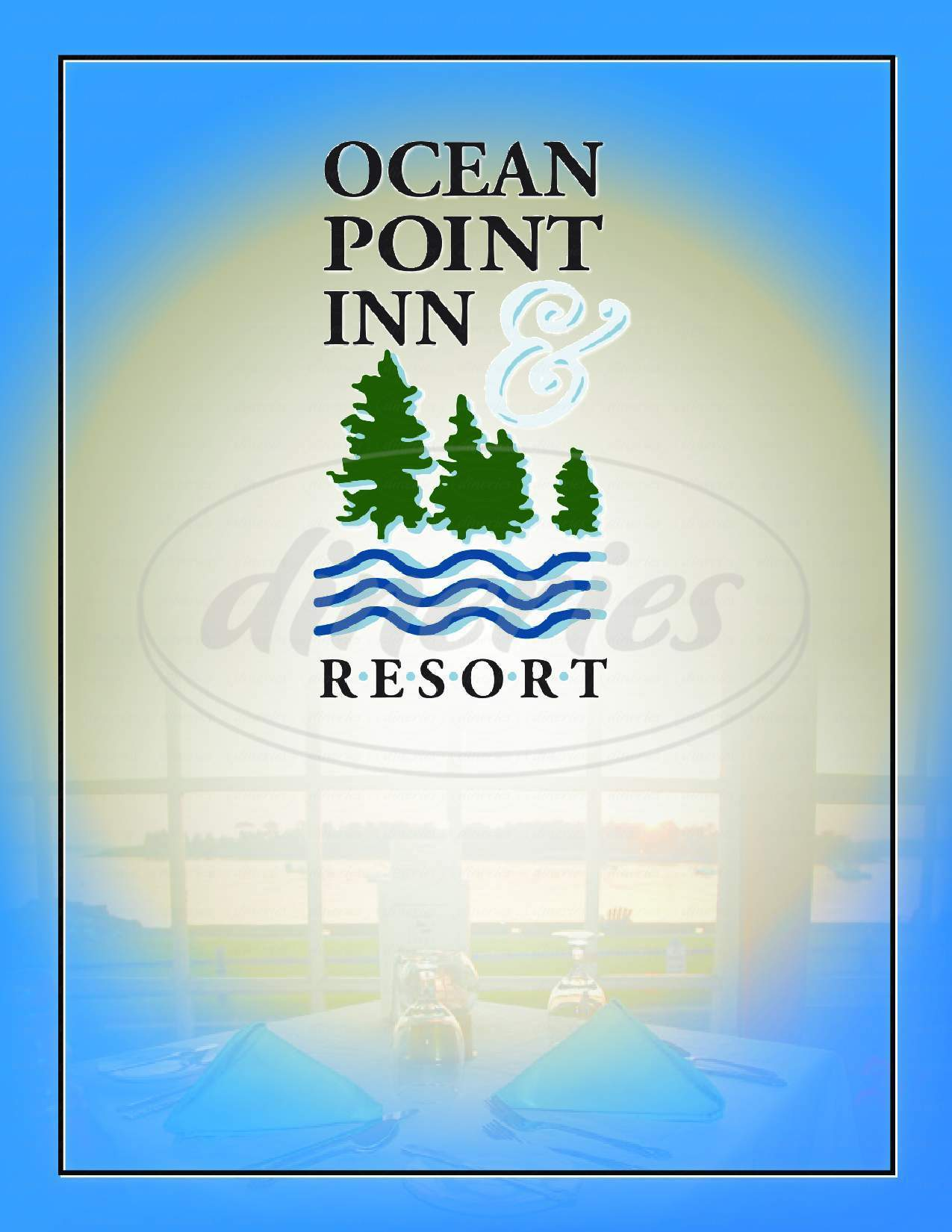 menu for Ocean Point Inn & Resort