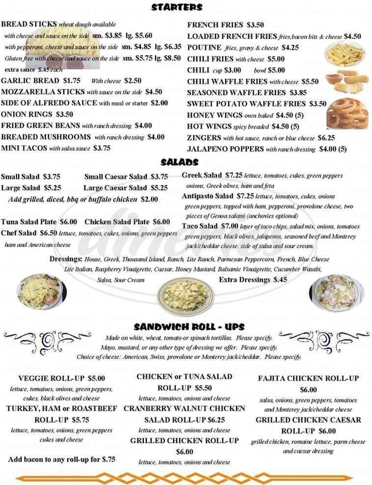 Big menu for Pat's Pizza, Lincoln