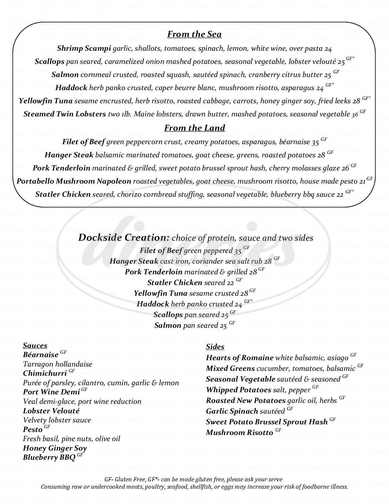 menu for Dockside Grill