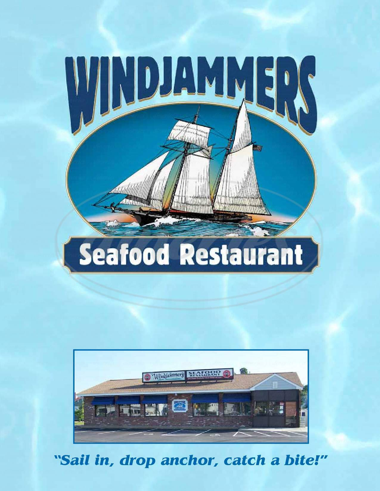 menu for Windjammers Seafood Restaurant