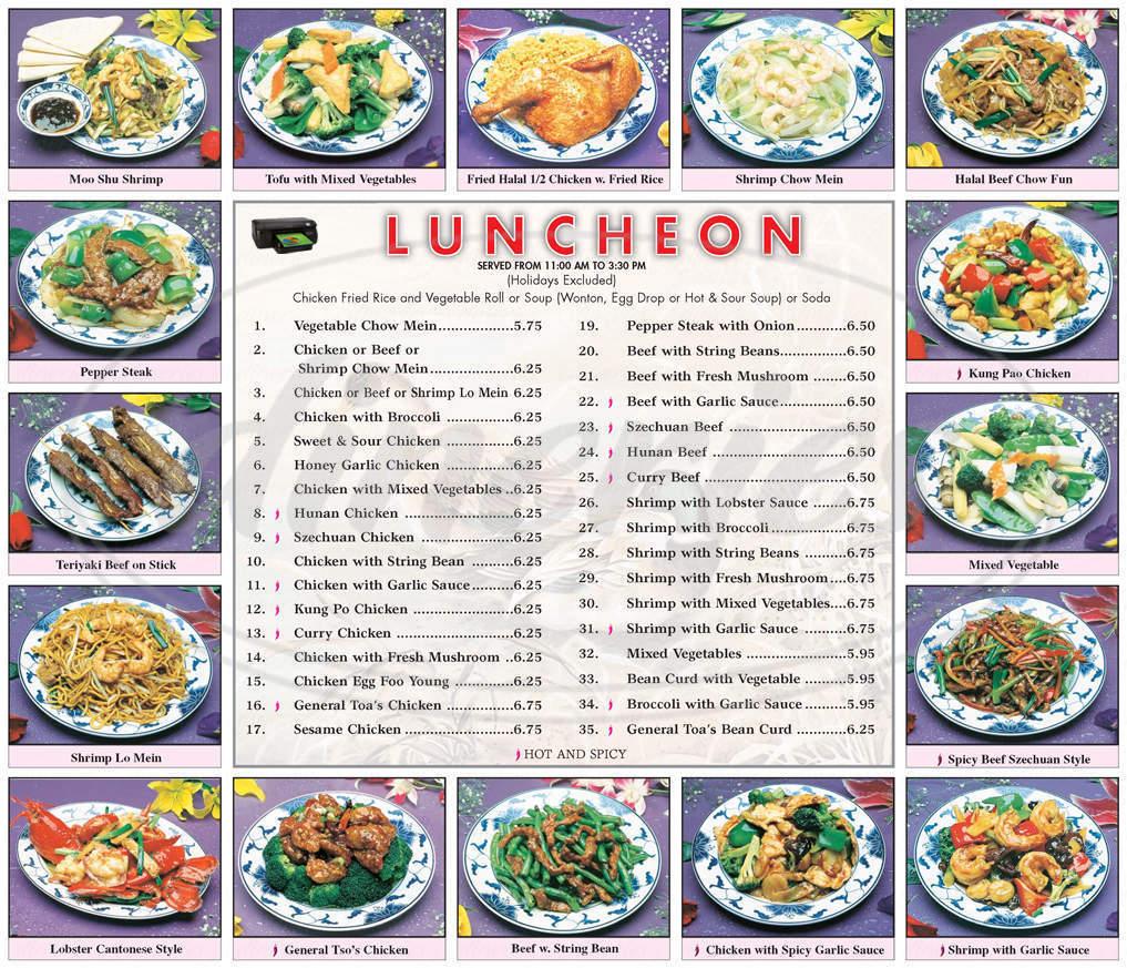 menu for Fatima's