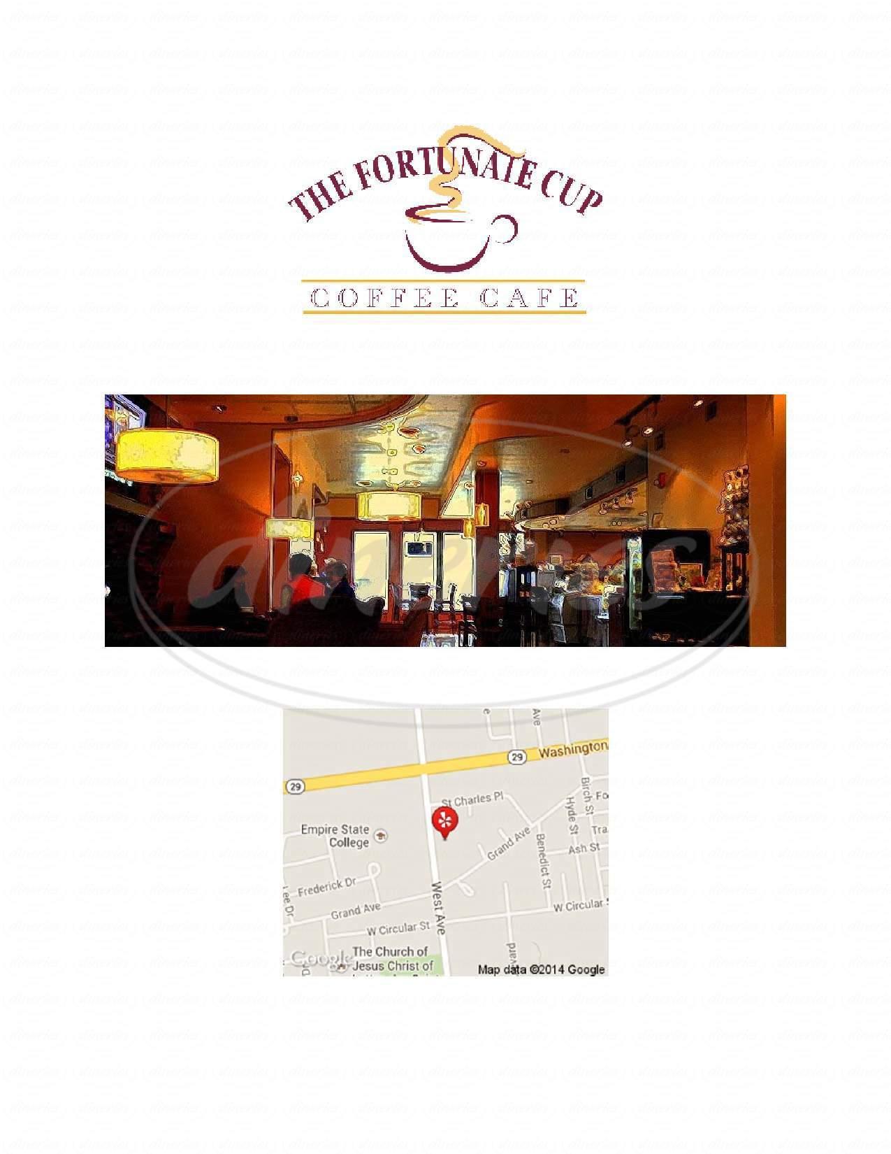 menu for The Fortunate Cup Coffee Café