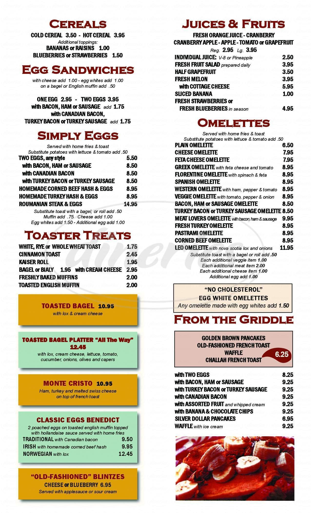 menu for Great Neck Diner
