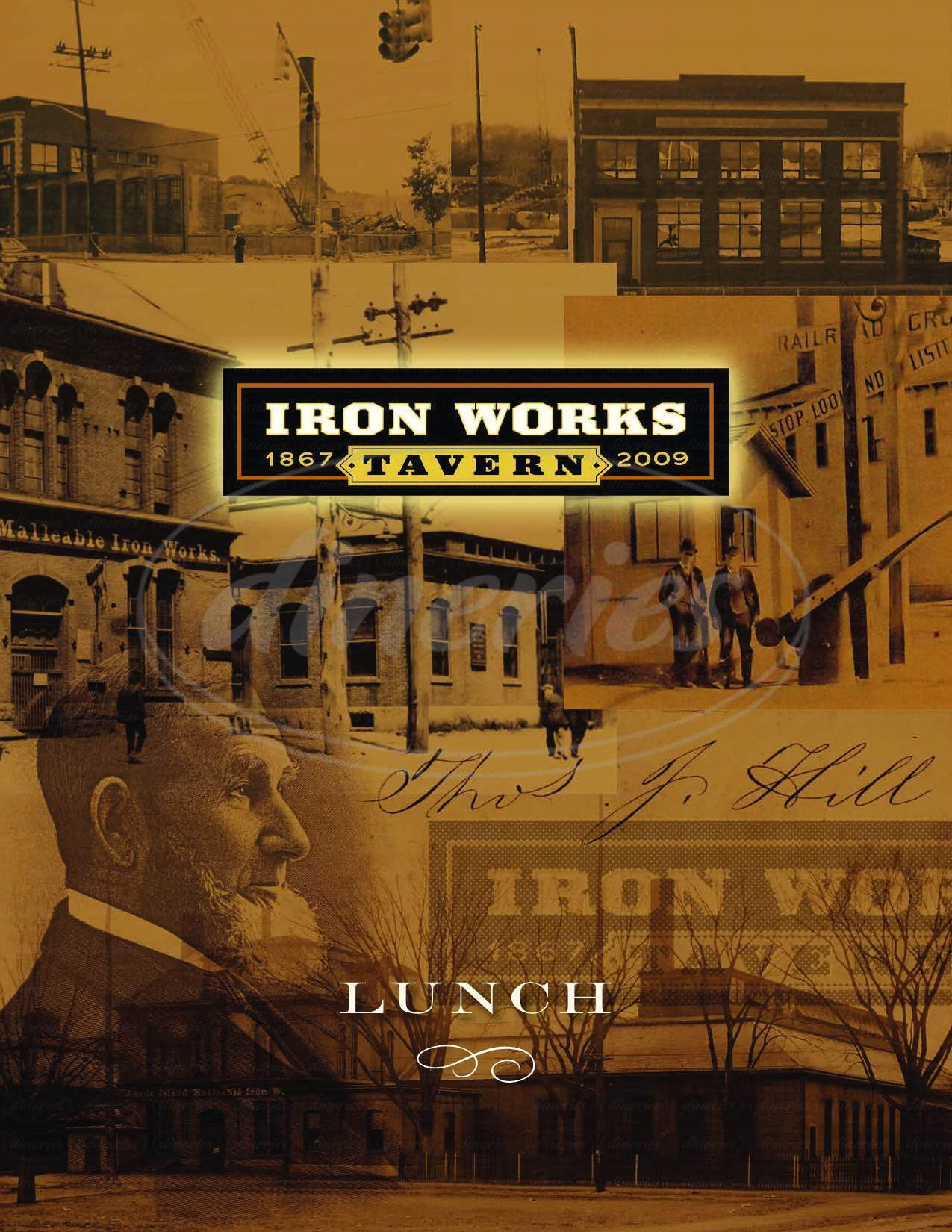 menu for Iron Works Tavern