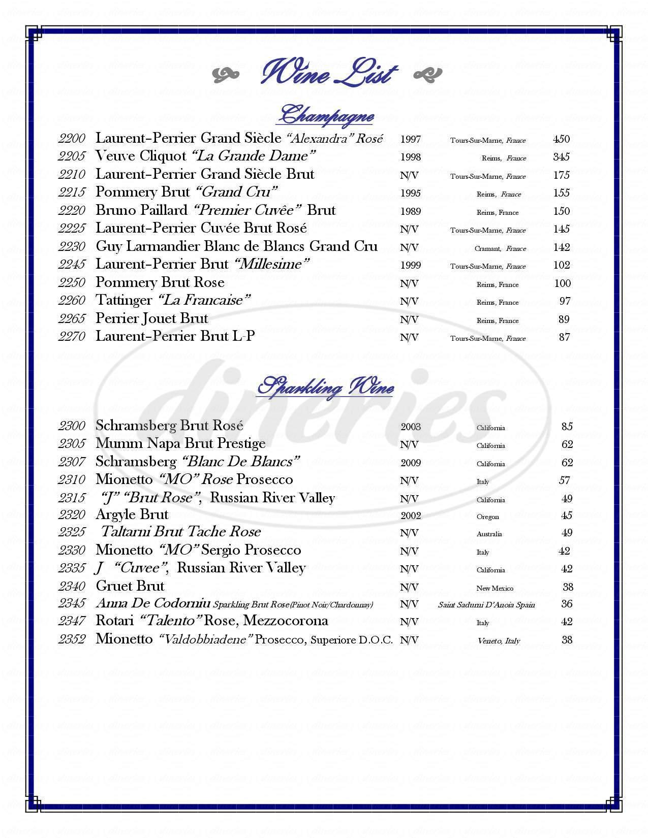 menu for Atlantic Inn