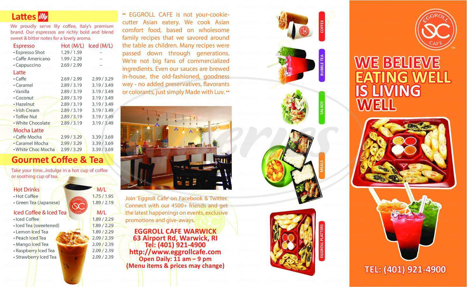 menu for Eggroll Cafe
