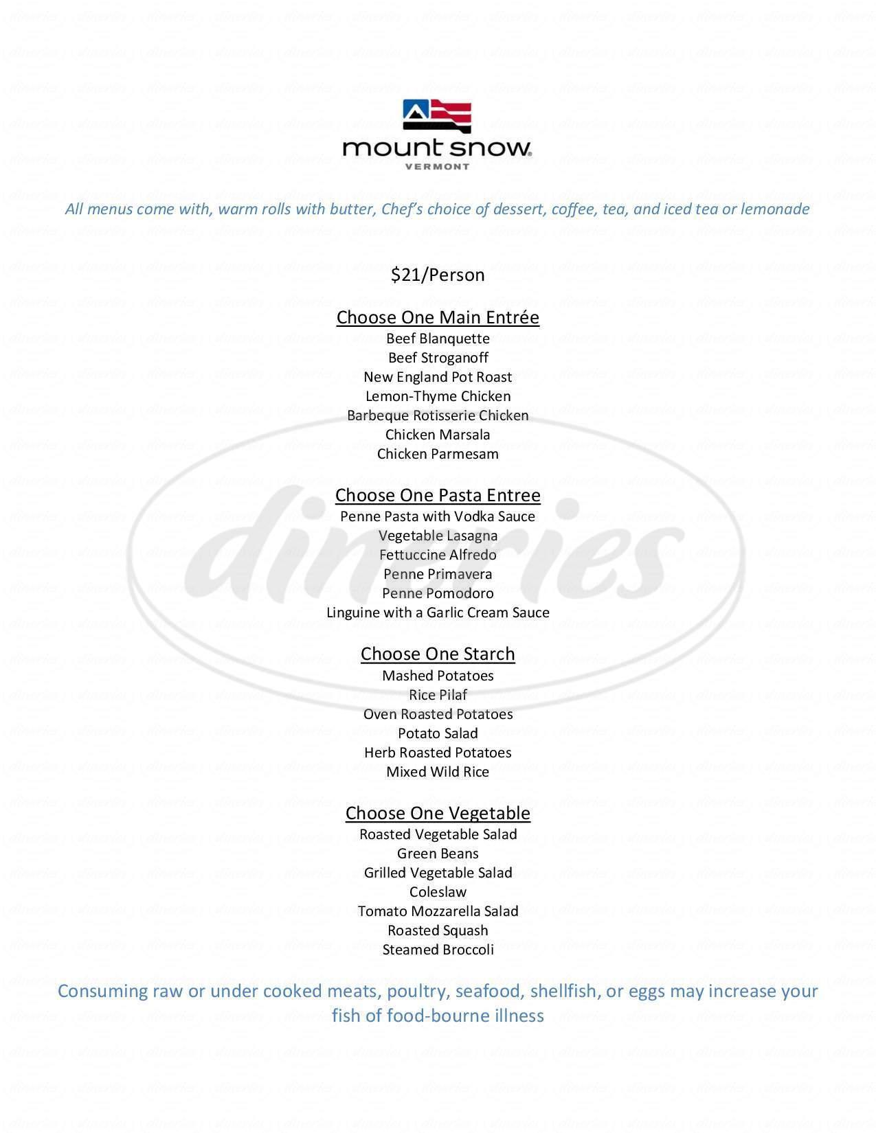 menu for Cuzzins Bar & Grill
