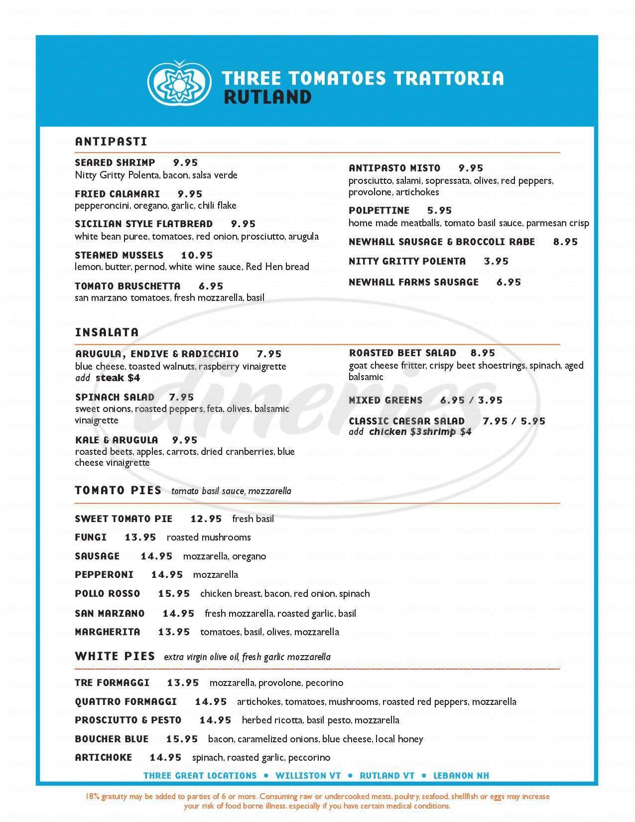 menu for Nika