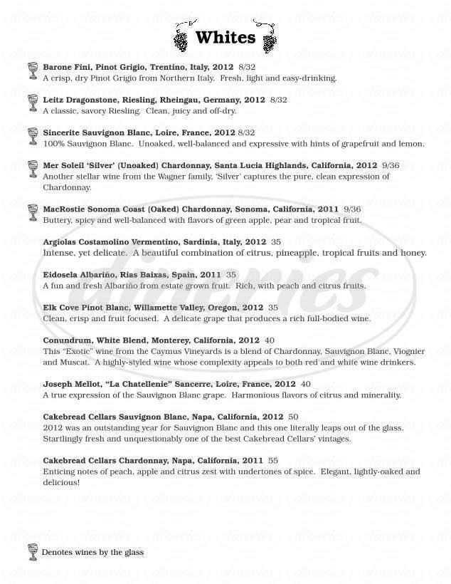 menu for American Flatbread