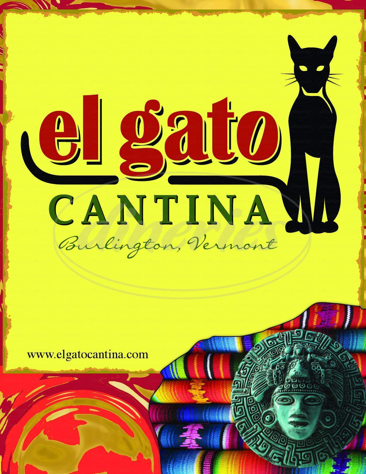 menu for El Gato Cantina
