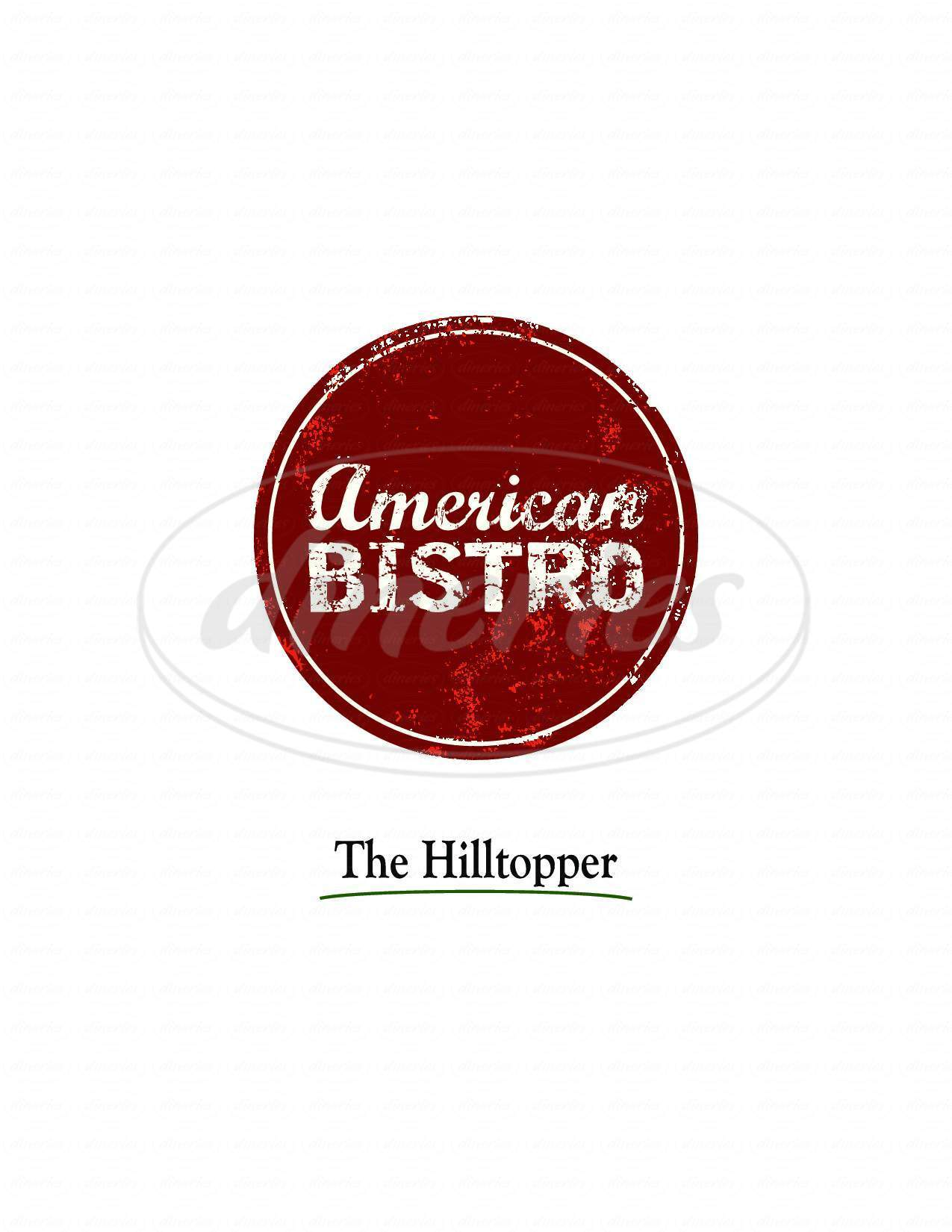 menu for Hilltopper Restaurant