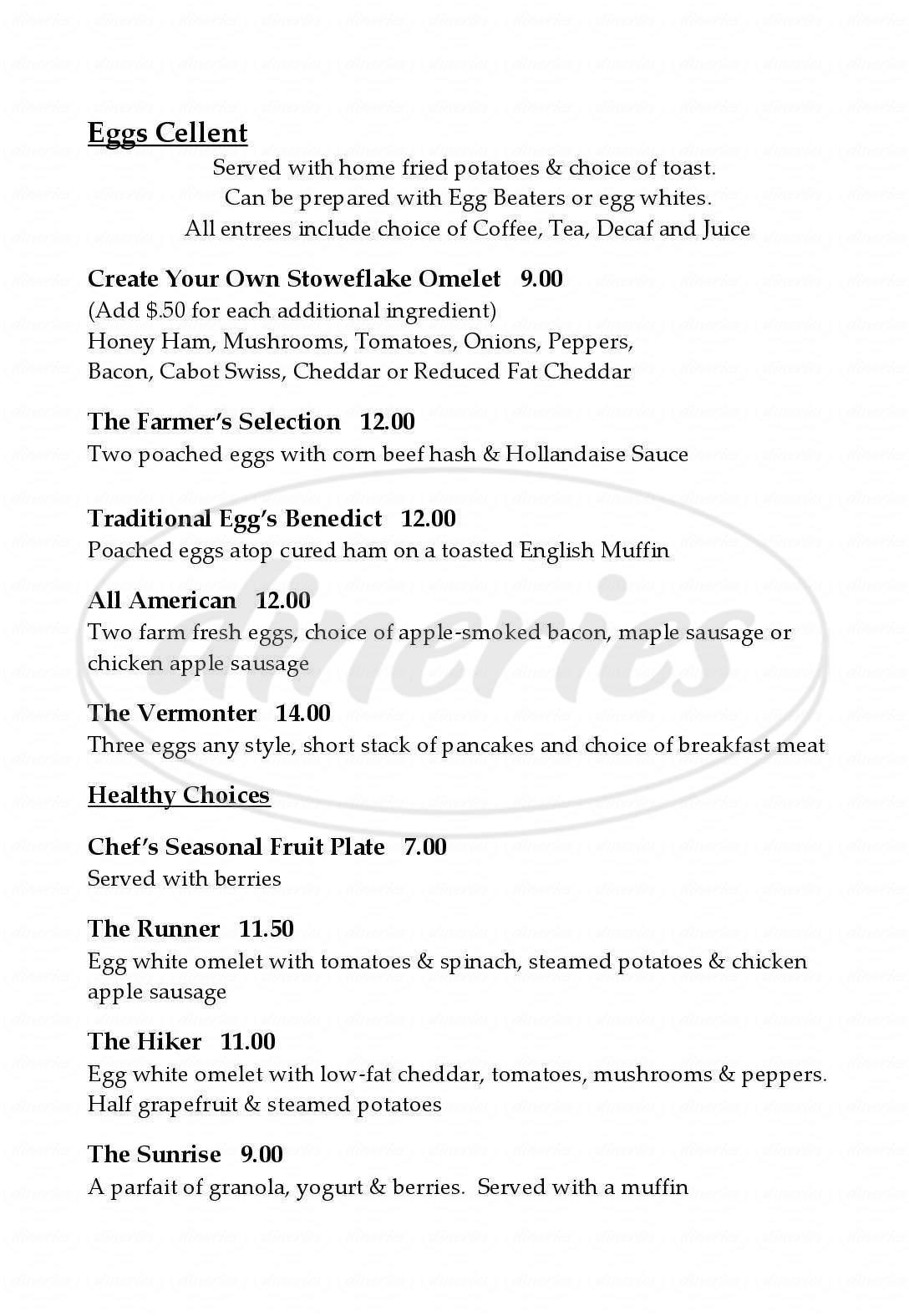menu for Charlie B's Restaurant & Pub