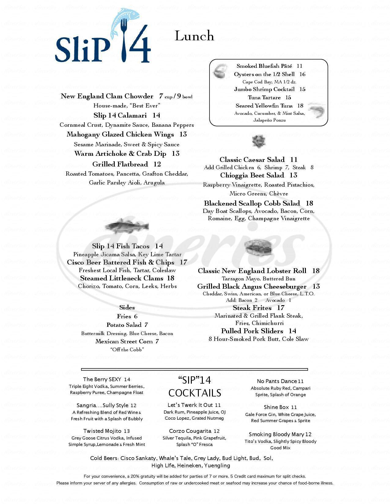 menu for 12 Degrees East