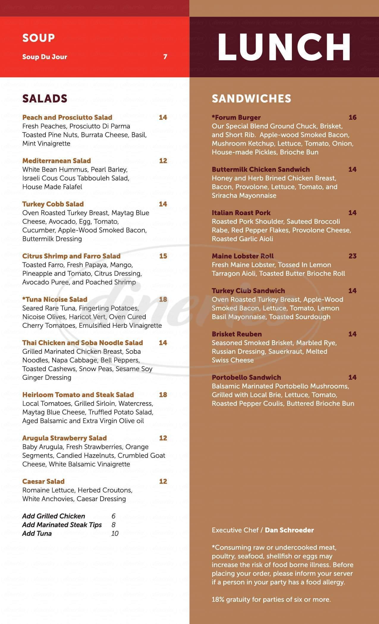 menu for Forum