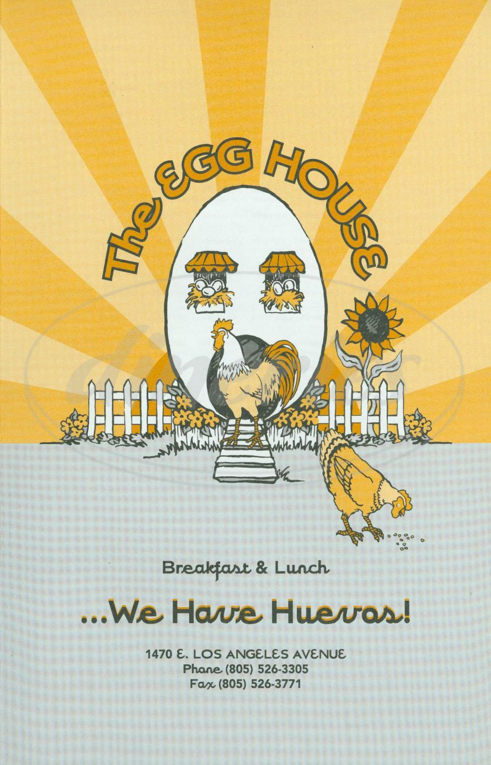 menu for The Egg House