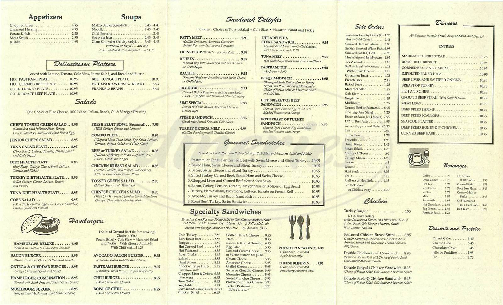 menu for Simi Deli USA