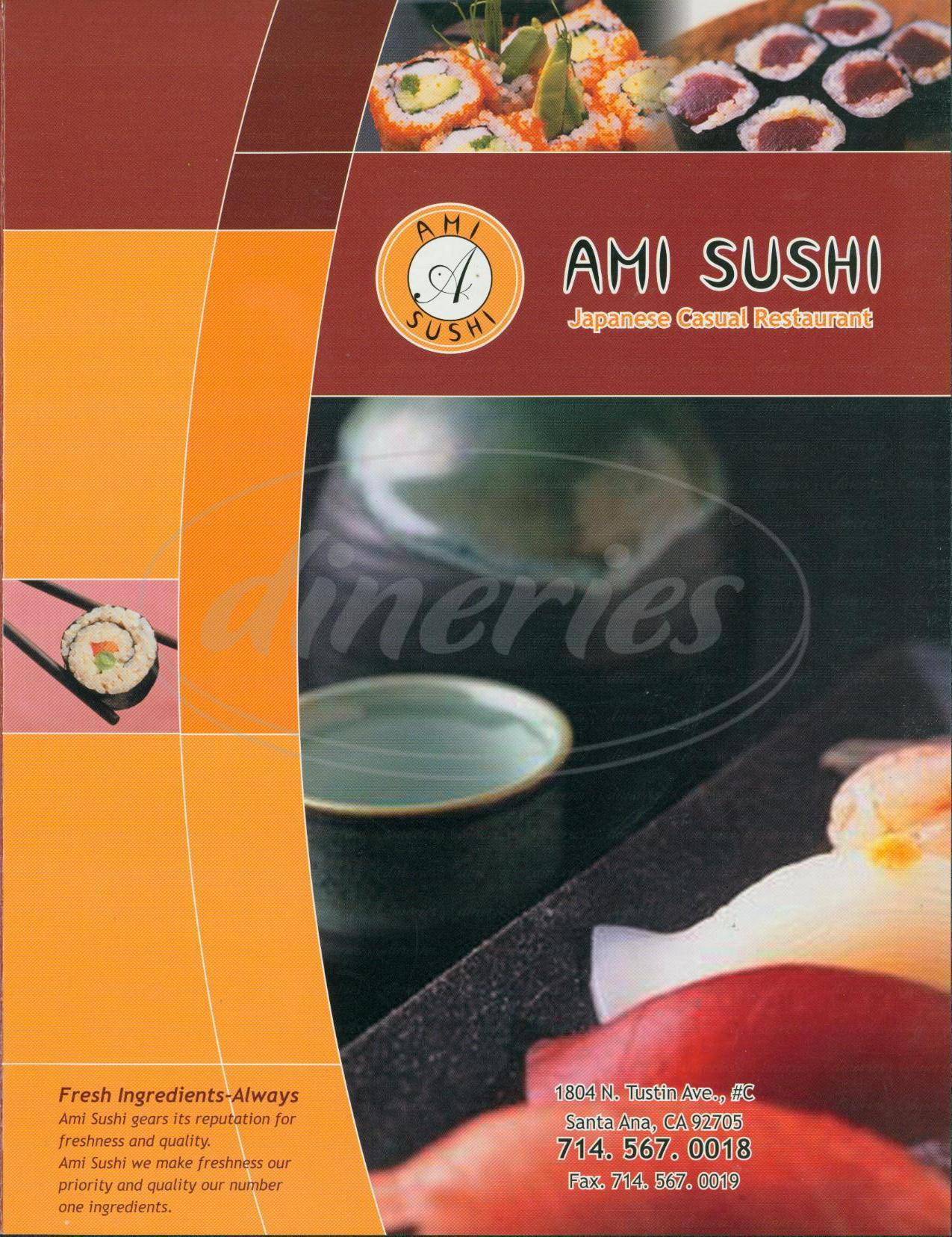 menu for Ami Sushi