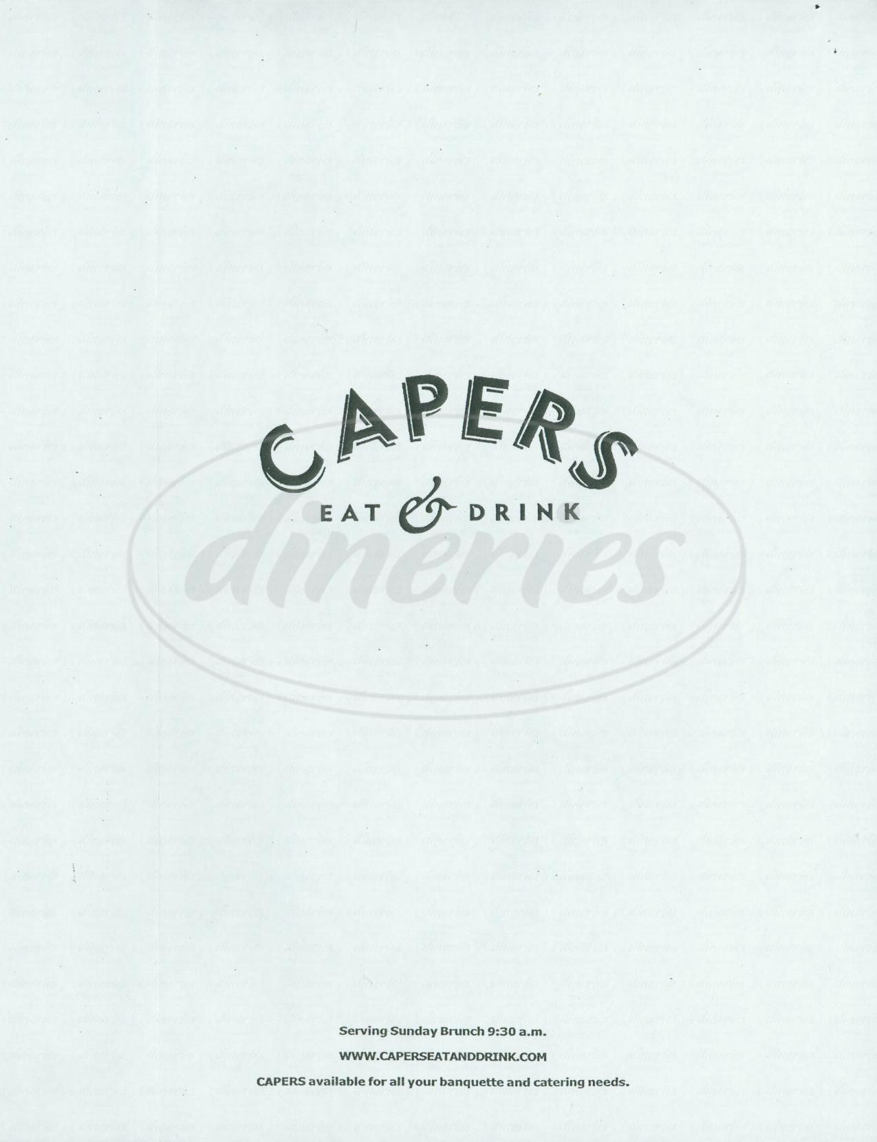 menu for Capers