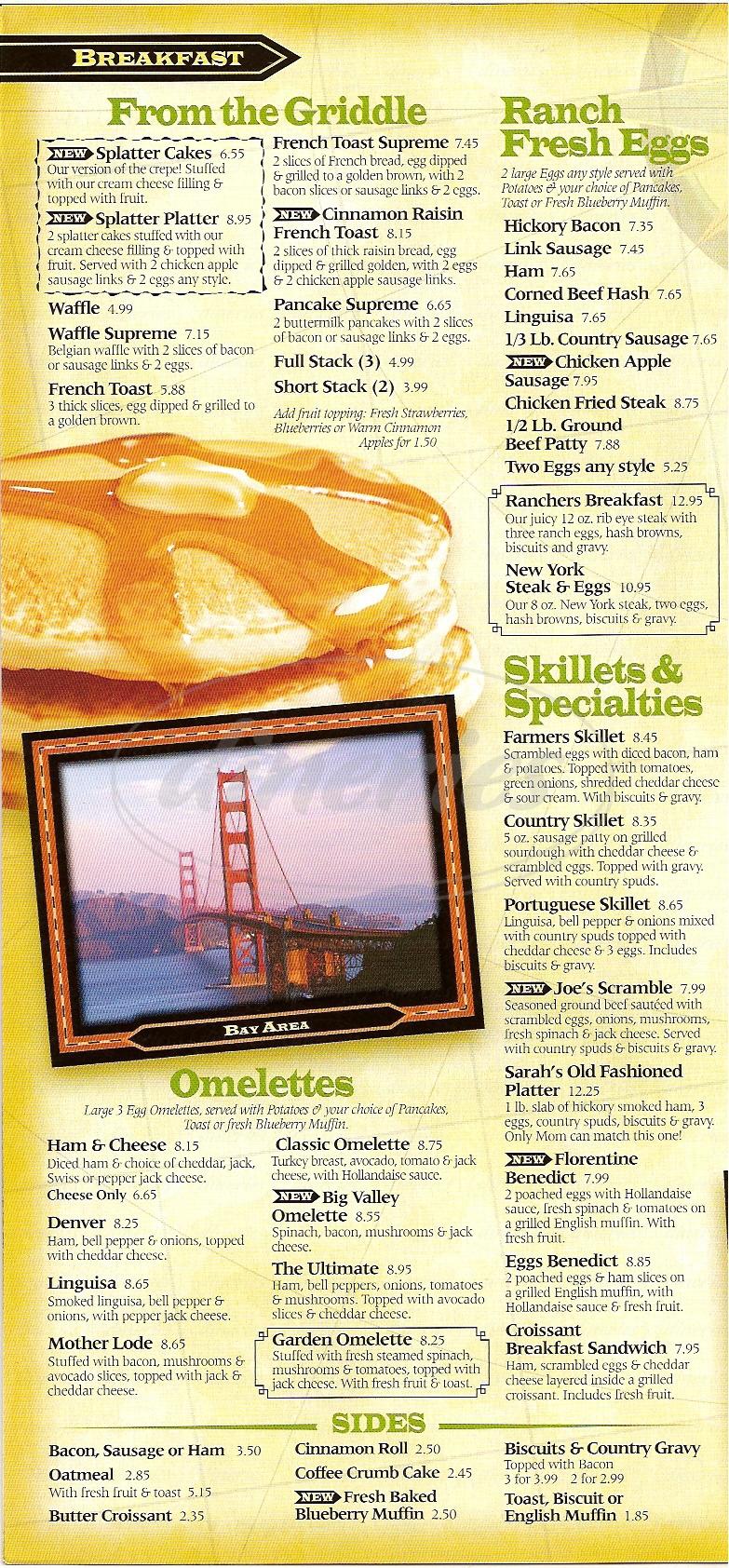 menu for Perkos Café