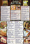 menu for Plaza Azteca