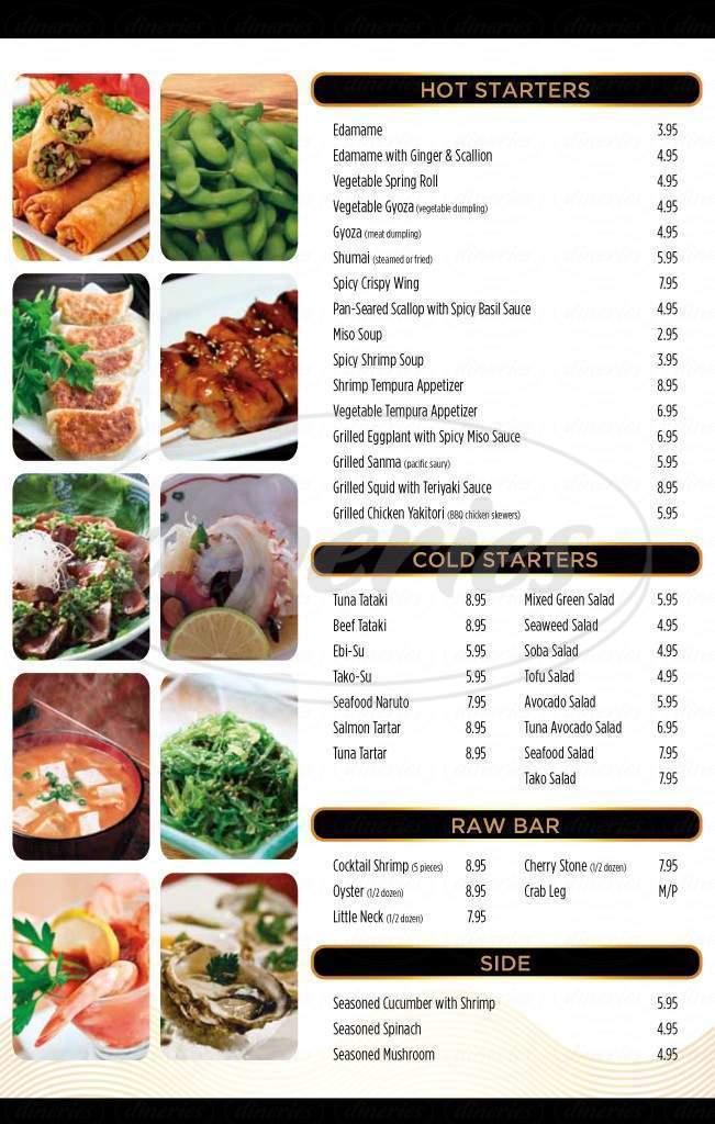 menu for Takusan Sushi