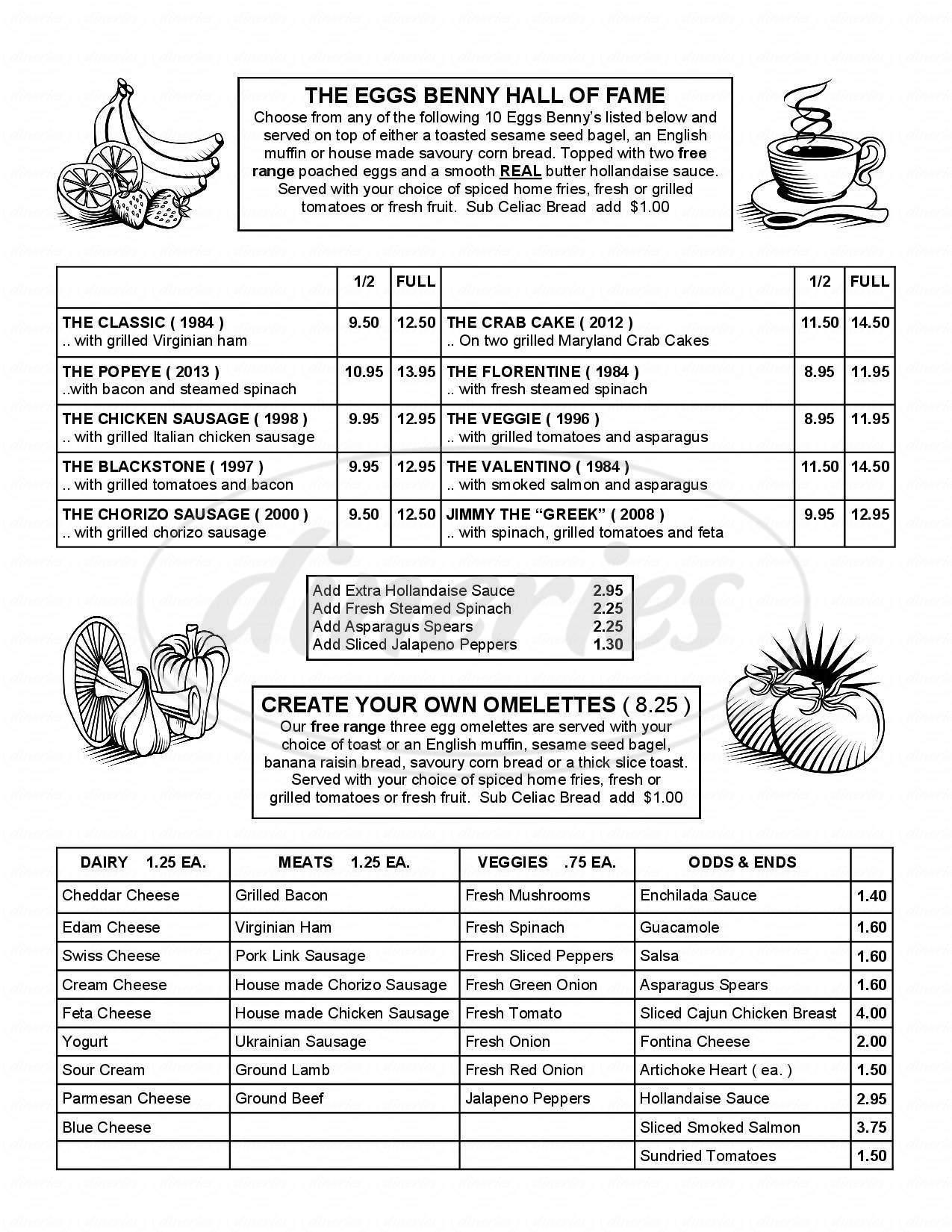 menu for John's Place